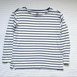 The Striped Sheep navy and white cotton tee XL